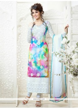 Multicolor Embroidery Churidar Salwar Suit