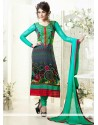 Multicolor Georgette Churidar Salwar Suit