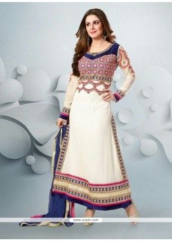 Off White Faux Georgette Pakistani Salwar Suit