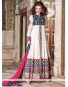 Off White Georgette Embroidery Anarkali Suits