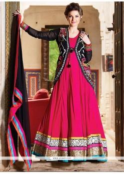 Charming Magenta Georgette Anarkali Salwar Kameez