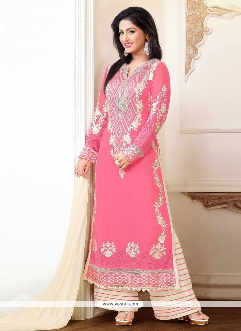 Shop Online Hina Khan Embroidered Work Designer Suit