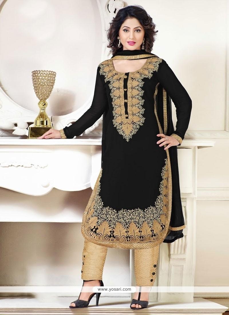 Shop Online Hina Khan Resham Work Designer Suit