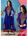 Royal Blue Embroidery Anarkali Salwar Suit