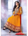 Eyeful Orange Georgette Anarkali Salwar Suit