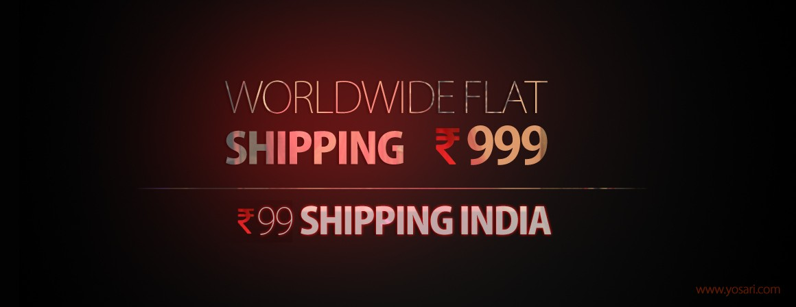 WorldWide Flate Shipping INR 999 | Free Shipping India